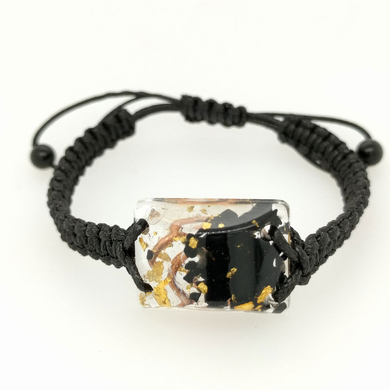 Orgonite Bracelets with Adjustable Leather Strap