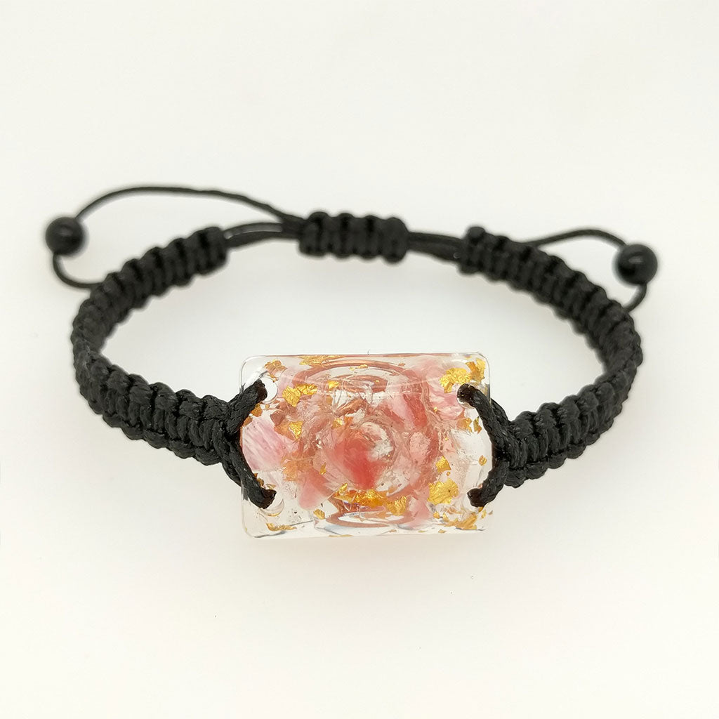orgonite bracelet rose quartz
