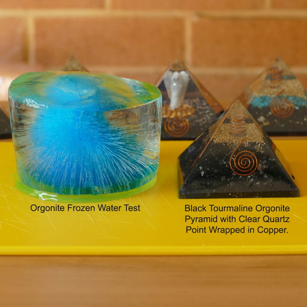 Orgonite Pyramids with Selenite Crystals