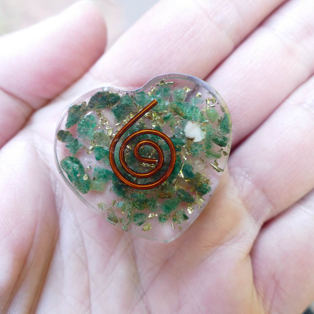 Orgonite Hearts - Orgonite Flat Hearts