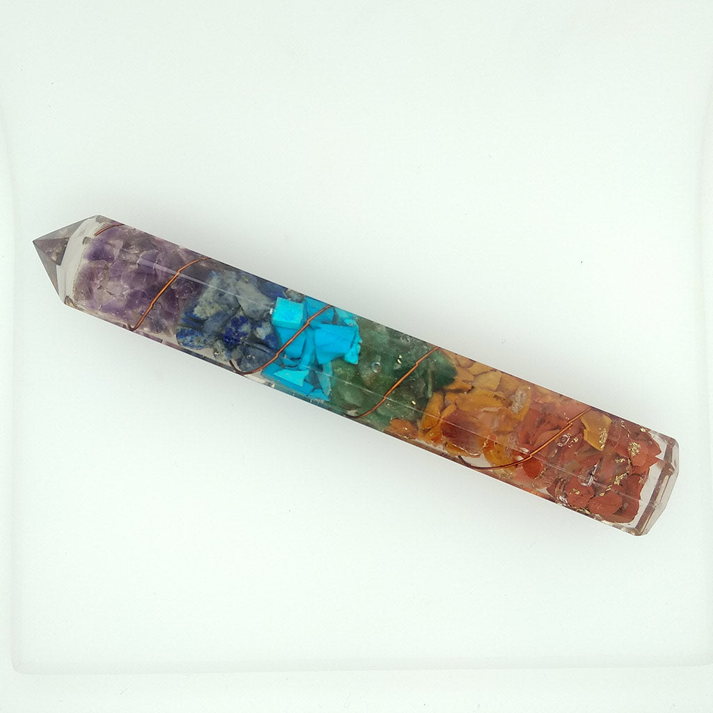 Orgonite Point with Various Crystal Stones