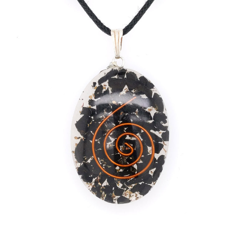 orgonite pendants necklace tourmaline