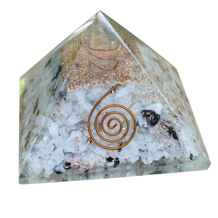orgone pyramid rainbow moonstone