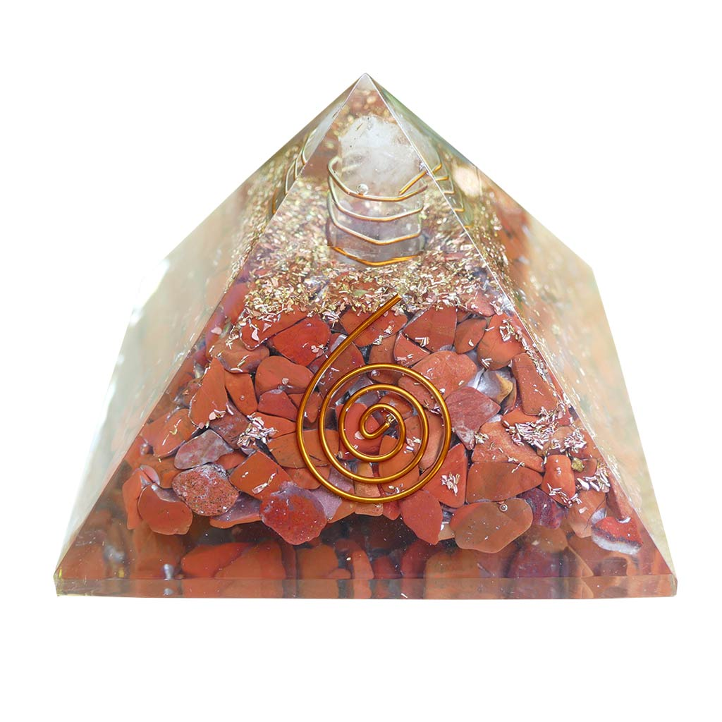 orgone energy pyramid red jasper