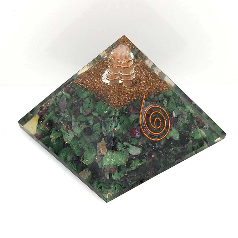 ruby zoisite orgonite pyramid