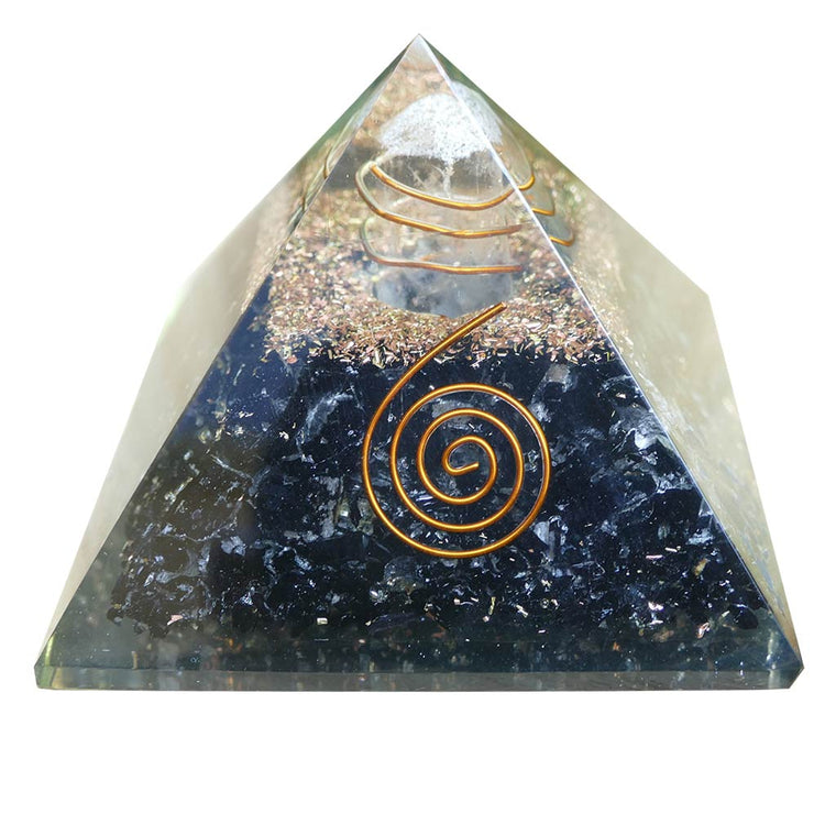 Orgone Pyramid with Black Tourmaline