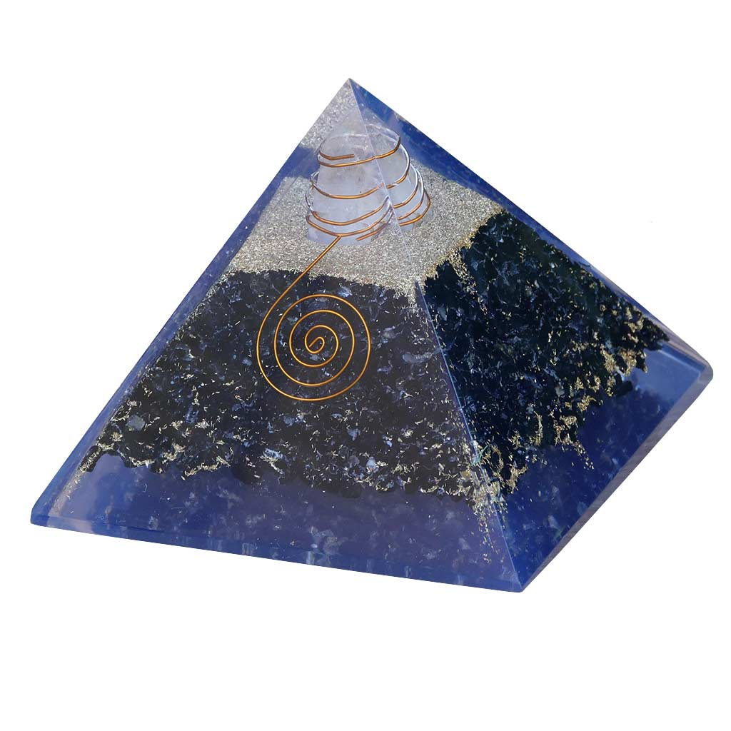 Orgone Pyramid black tourmaline crystals