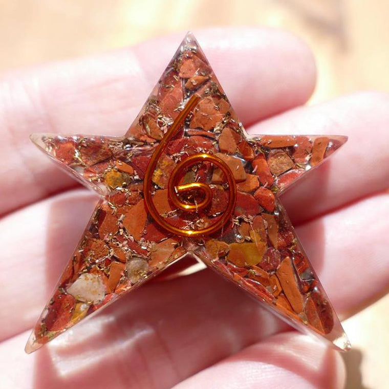 Orgonite Star in 7 Chakra Colours