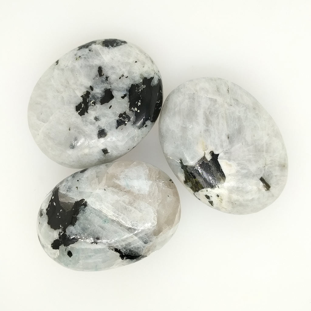 Rainbow Moonstone Palm Stones