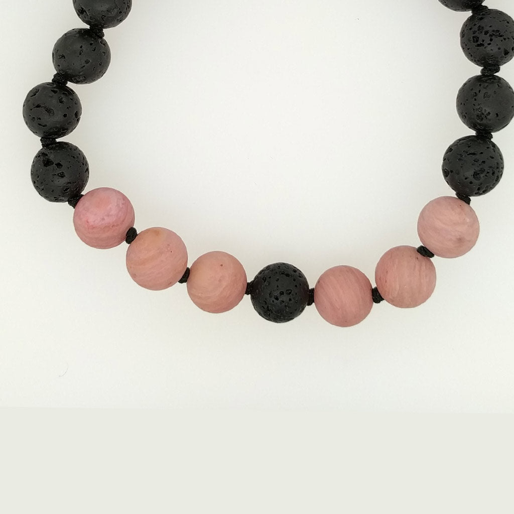 Rhodonite Healing Bracelet with aroma diffuser oil