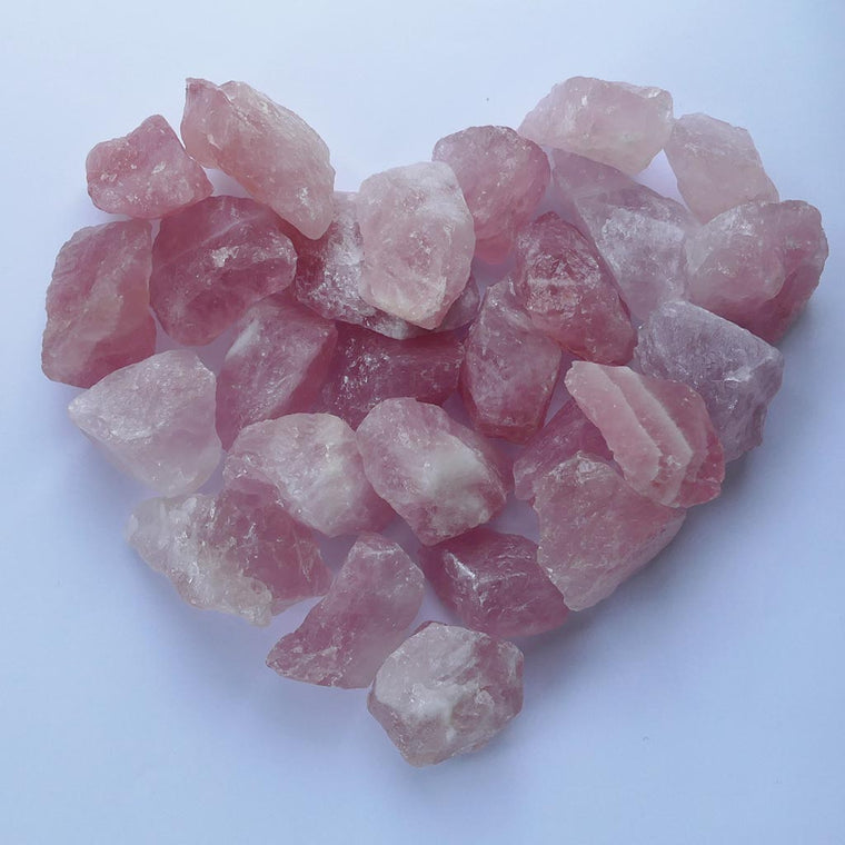 rose quartz natural chunks