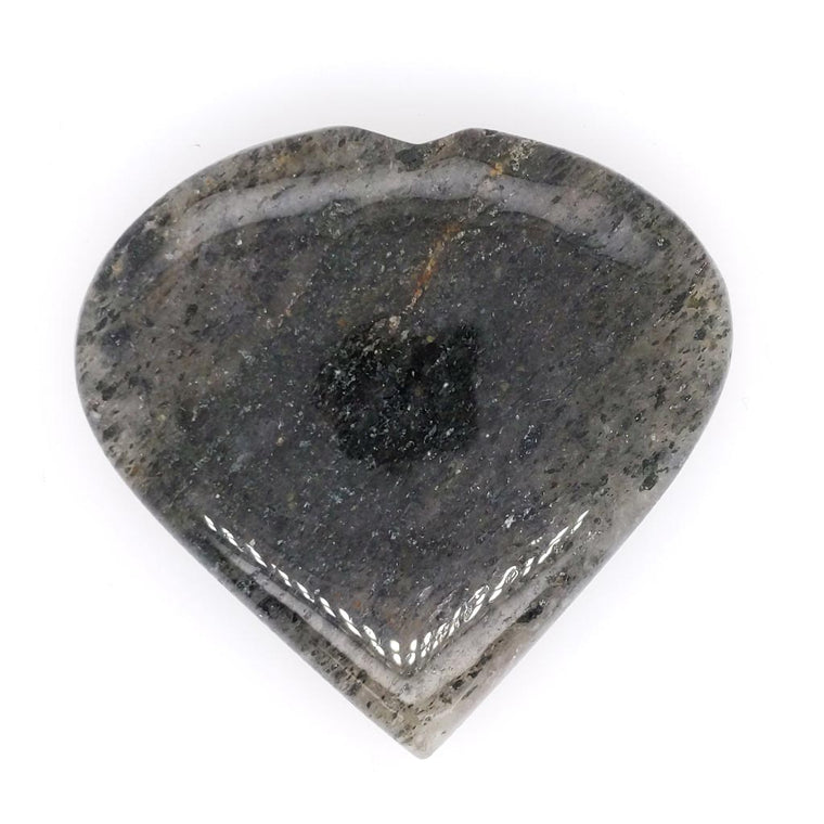 Black Rutilated Quartz Crystal Hearts