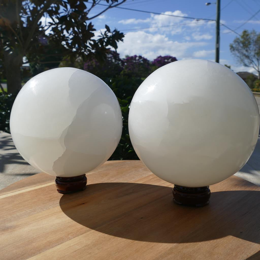 large selenite spheres