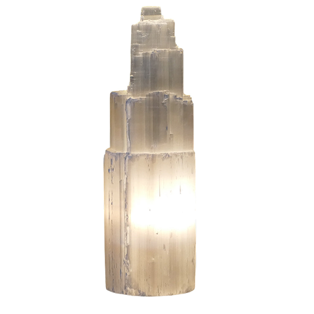... Selenite Tower Lamp For The Bedroom Or Living Room 35cm+ ...