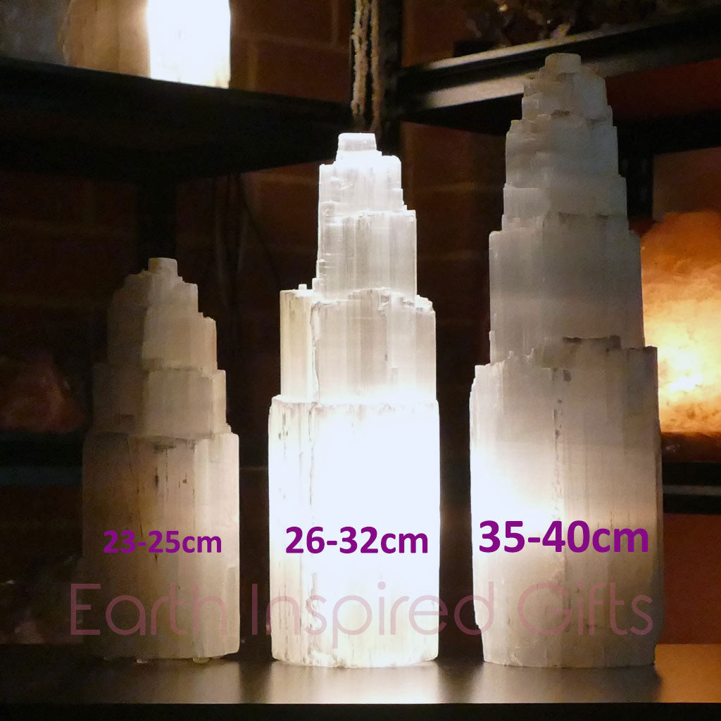 selenite tower lamp best sizes
