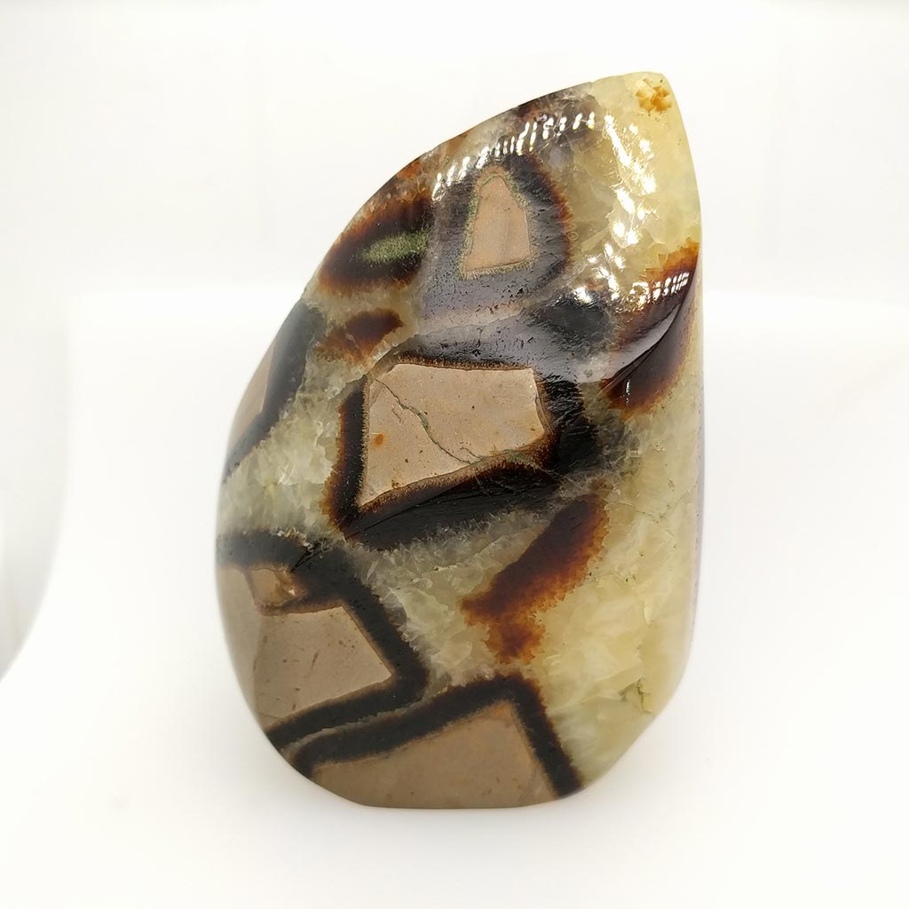 natural Septarian Crystal Flame