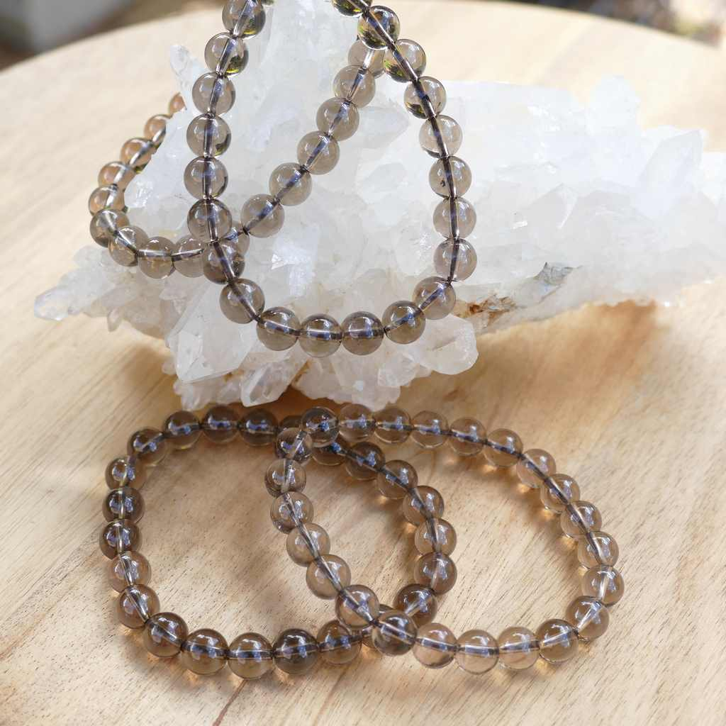 Smoky Quartz Bracelet Beaded
