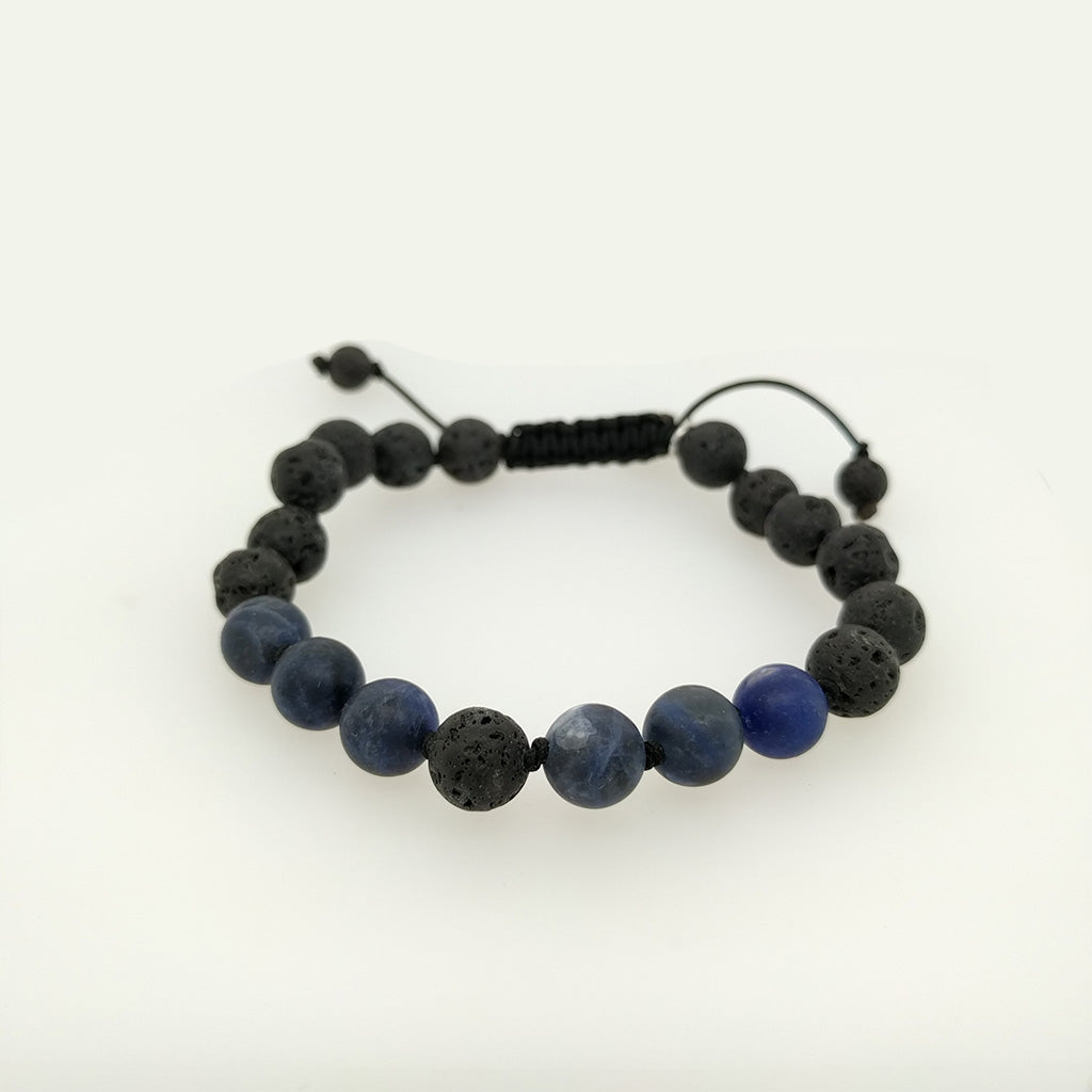 Sodalite Healing Bracelet with lava stone