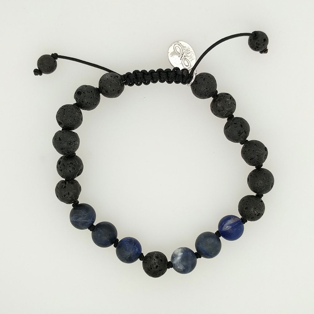 Sodalite Healing Bracelet with charm