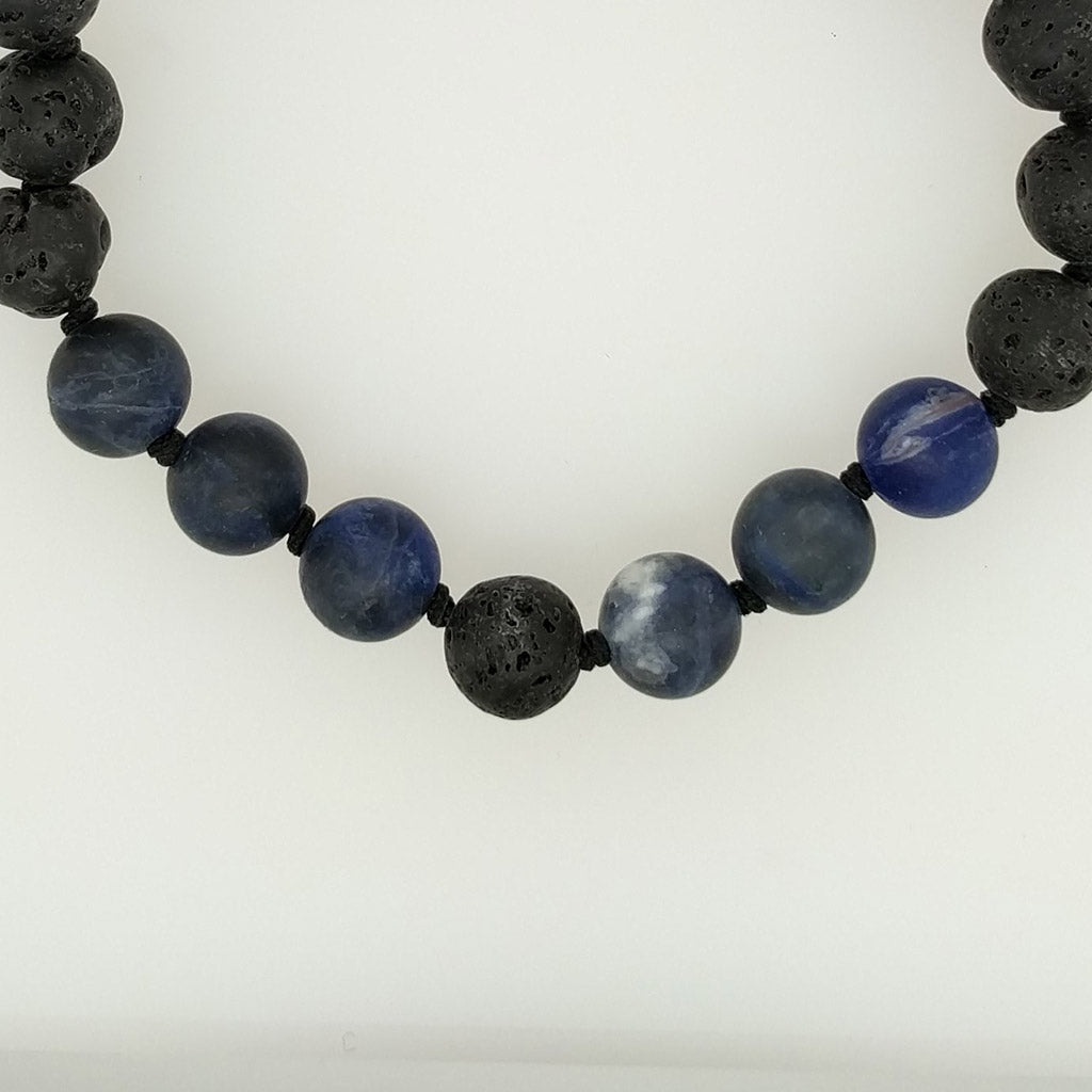 best Sodalite Healing Bracelet with lava stone diffuser