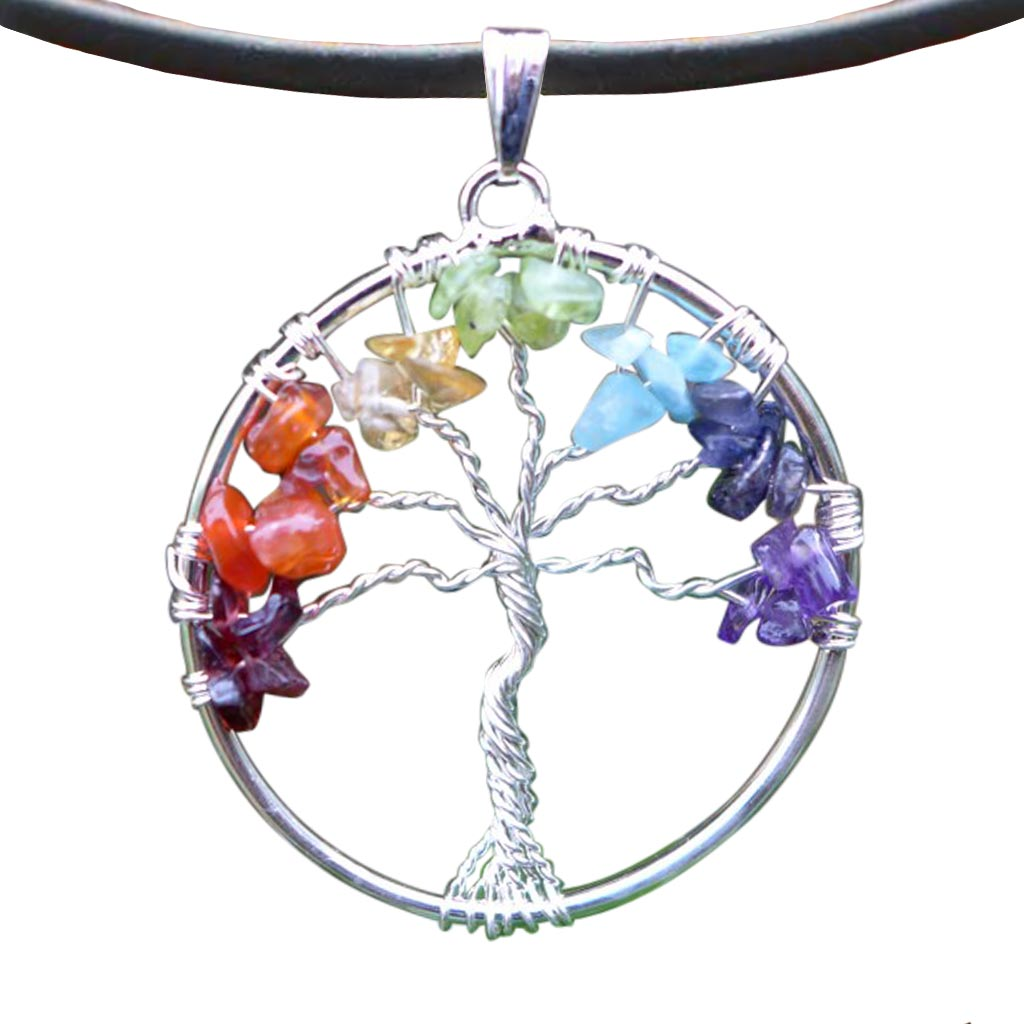 Chakra Necklace - Chakra Tree of Life Pendants