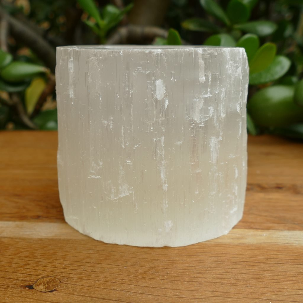 Selenite Natural TeaLight Holder