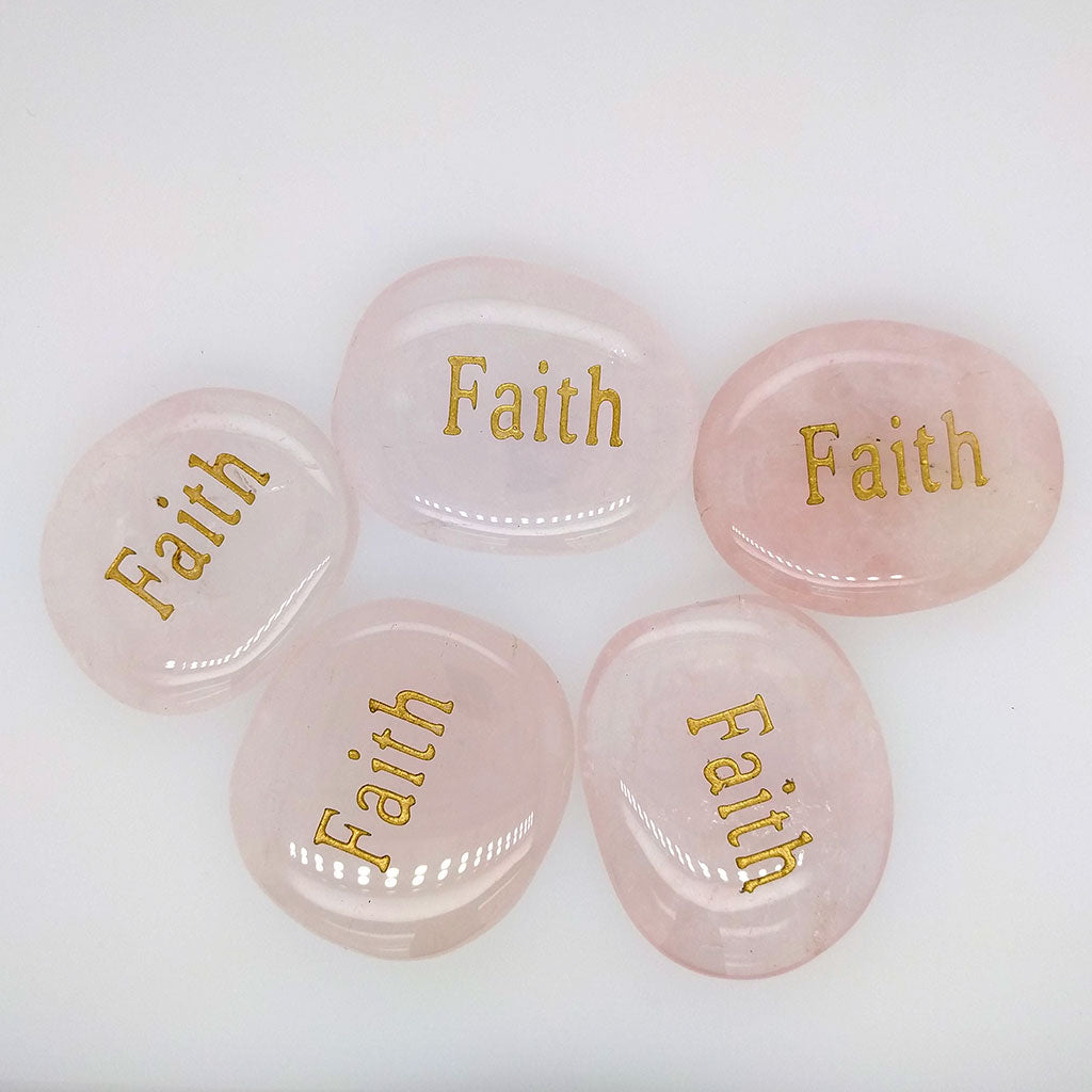 word stones faith engraving