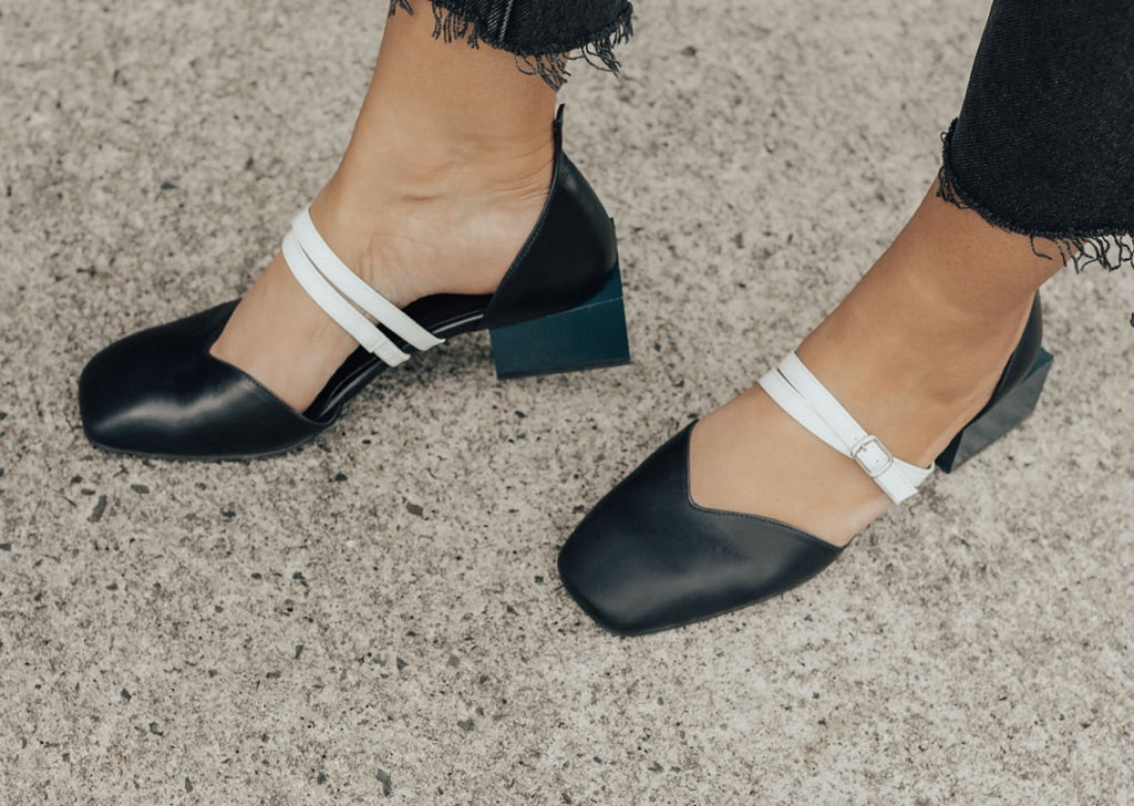 Bonnie Mary Jane Flats - Navy | Georgia Maccan | Felix and Scott