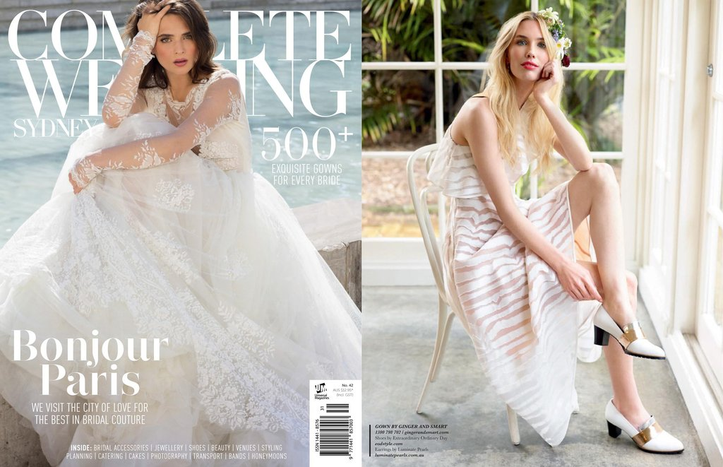 EOD Sheba White Block Heel Pumps | Complete Wedding Sydney Magazine