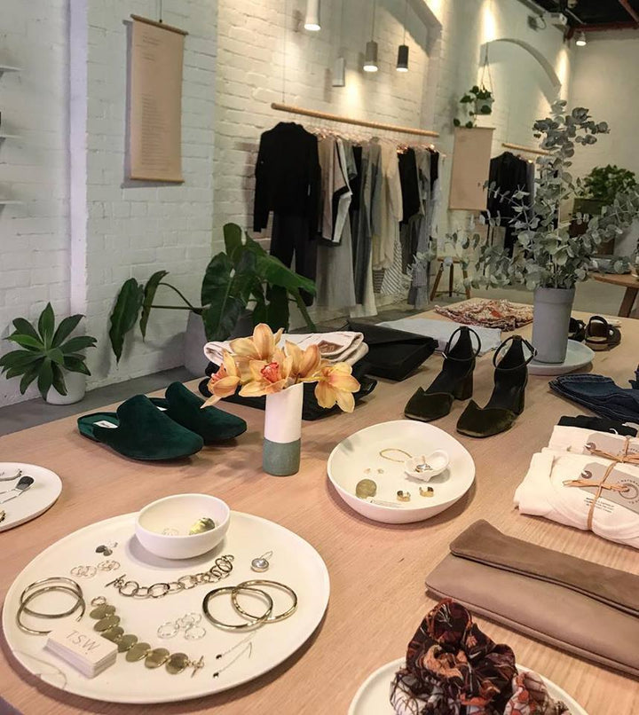 The Sustainable Wardrobe Pop Up store in Darlinghurst, Sydney stocking EOD Shoes
