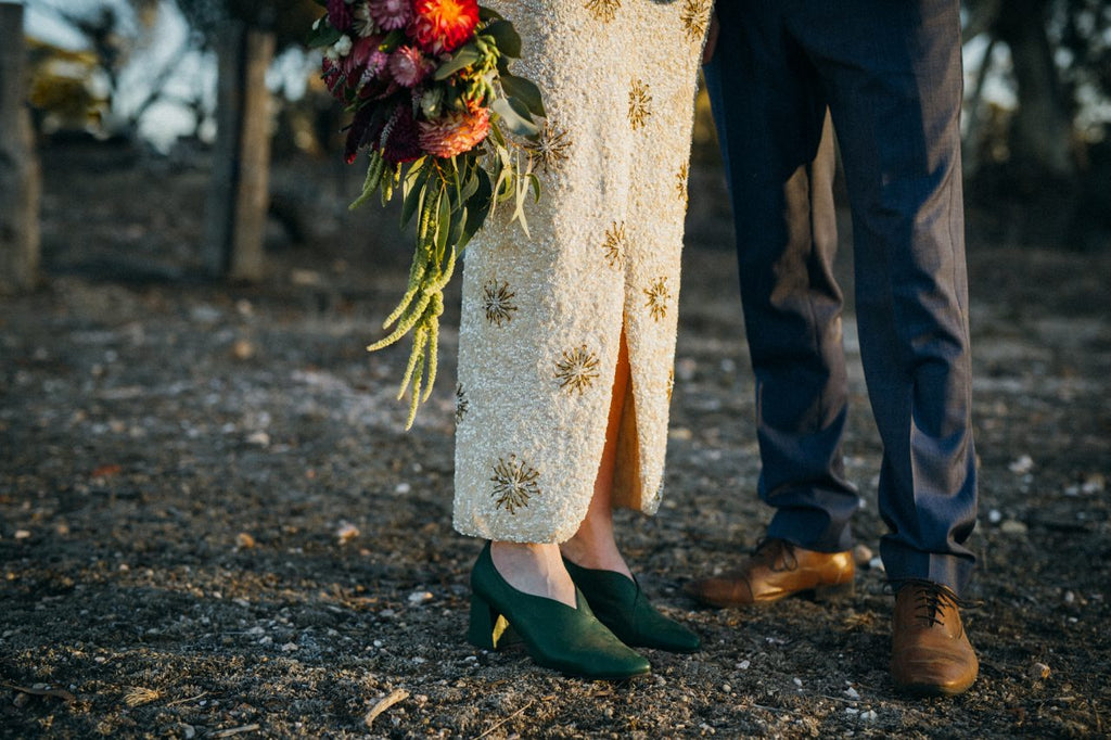 Together Journal, non-traditional wedding with ASHLEY LIM shoes