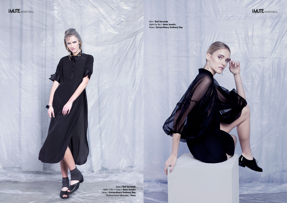 Women's Premium Handmade Shoes - Space Kitten in black featured in iMute magazine