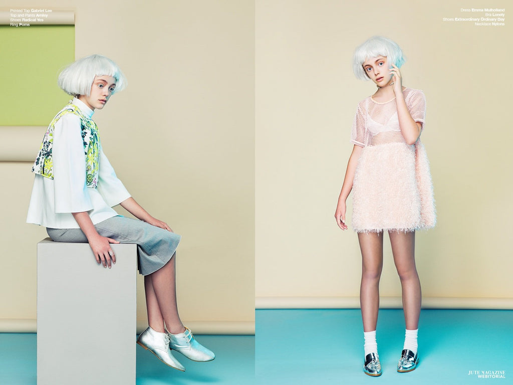 EOD Ecstasy Silver Metallic Loafers in Lost Dolls, Jute Magazine
