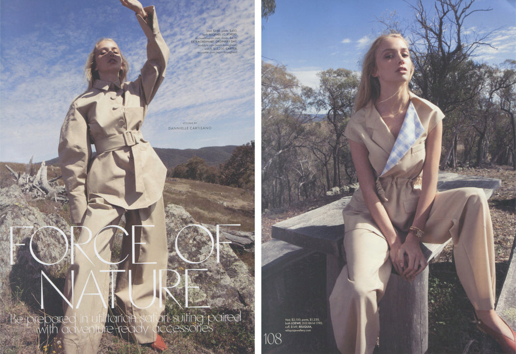 Elle Australia features EOD's slingback flats, Iris in the April 2018 issue