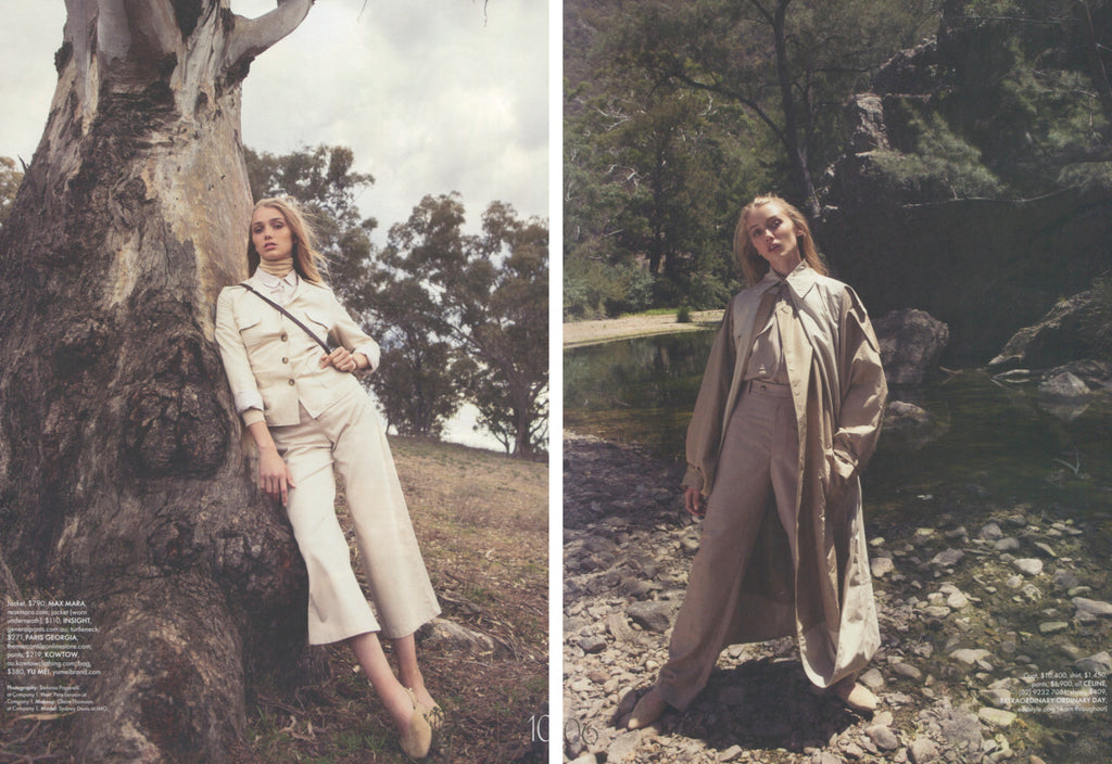 Elle Australia features EOD's slingback flats, FEI in the April 2018 issue