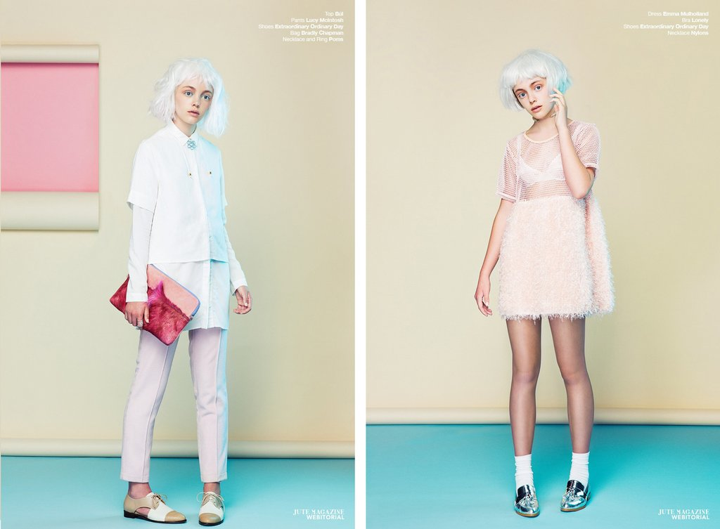 EOD Lovelace Brogues Nude/Ecstasy Silver Loafers in Lost Doll, Jute Magazine