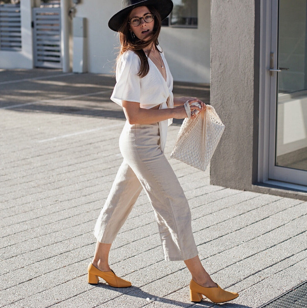 Jenelle Witty (@inspiringwit) styling her Tara Yellow Pumps by ASHLEY LIM, formerly EOD