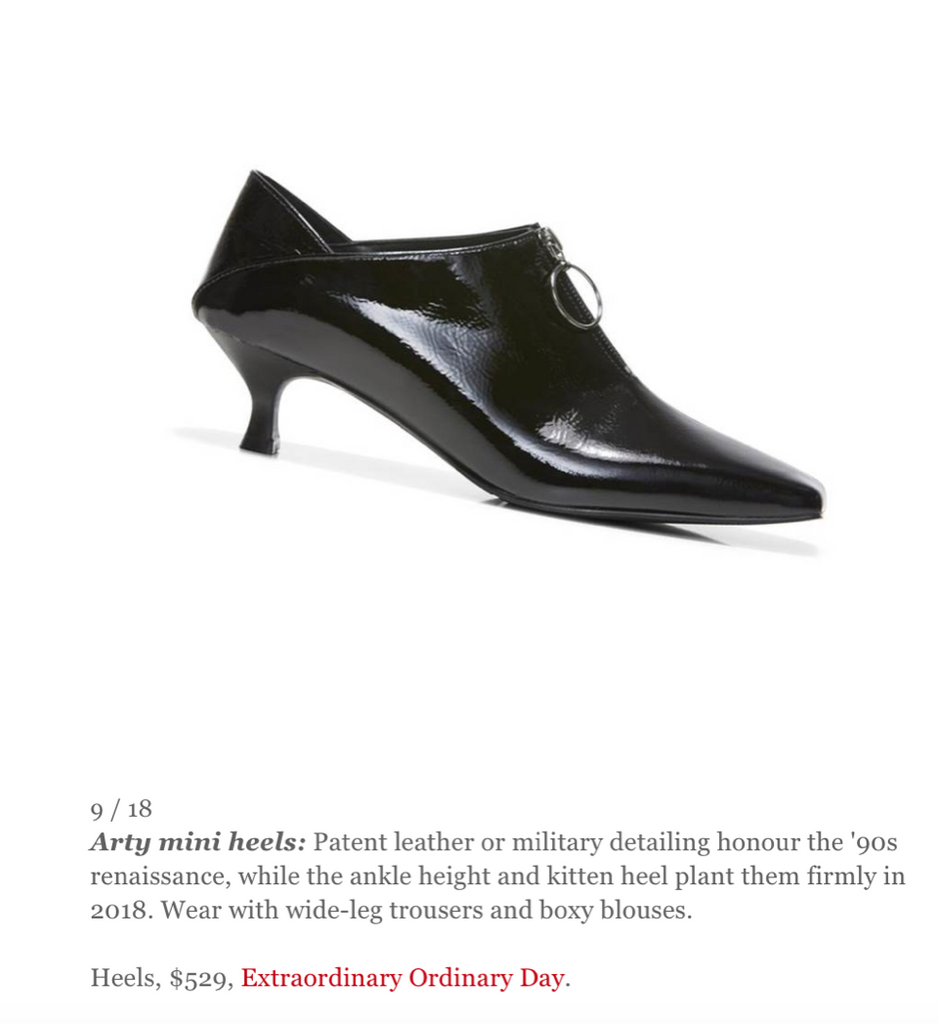 Elle Australia Online September Elle Manual - New-Season Minimalism featuring Elle pumps by ASHLEY LIM