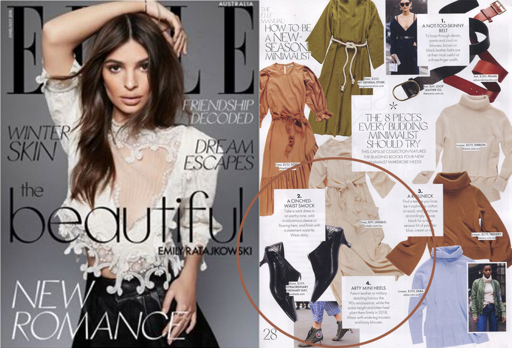 Elle Australia Minimalist Manual: 8 pieces for the budding minimalist featuring EOD Elle kitten heel pumps