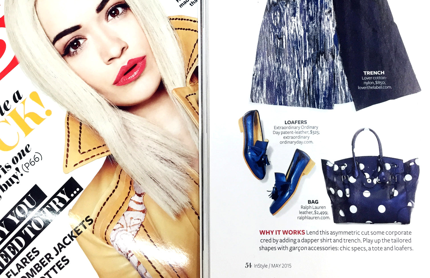 Women's Designer Leather Shoes - Ecstasy Metallic Cobalt loafers featured in InStyle magazine