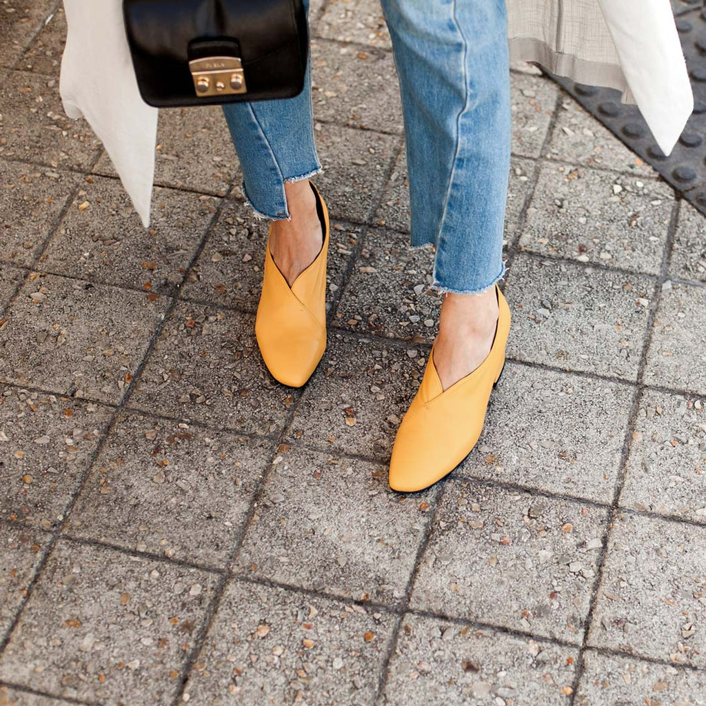 Tara Yellow Pump Heels Jenelle Witty Inspiring Wit EOD