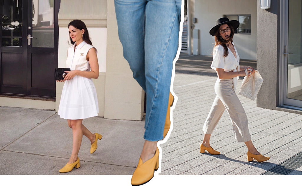 EOD Tara Yellow Pumps on Jenelle Witty InspiringWit