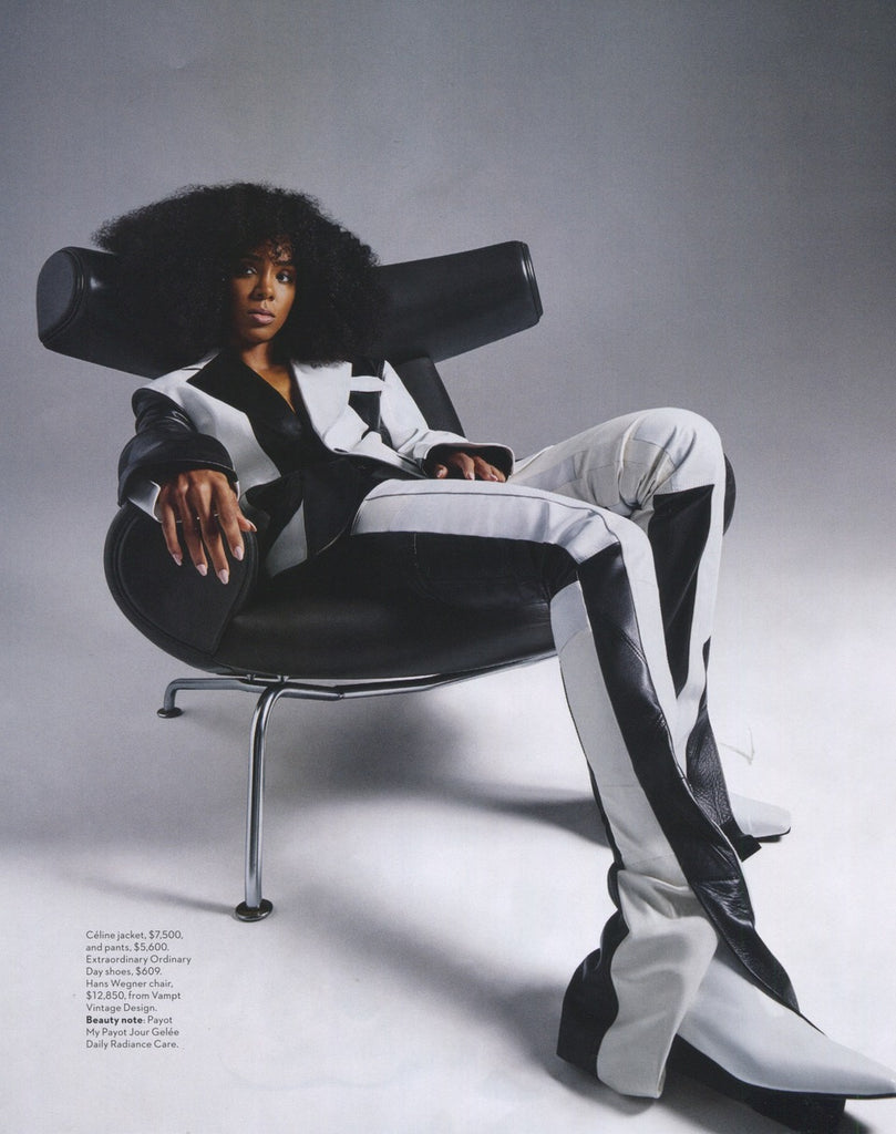 Vogue Australia 2018 August Issue featuring Kelly Rowland wearing EOD Femme kitten heel boots