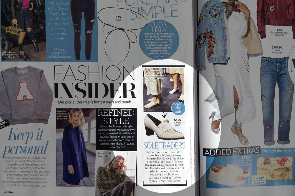 Women's Designer Leather Shoes - Babylon Pumps Featured on Who Magazine