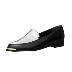 EOD Designer shoes, Persia Panelled Loafers, black silver leather