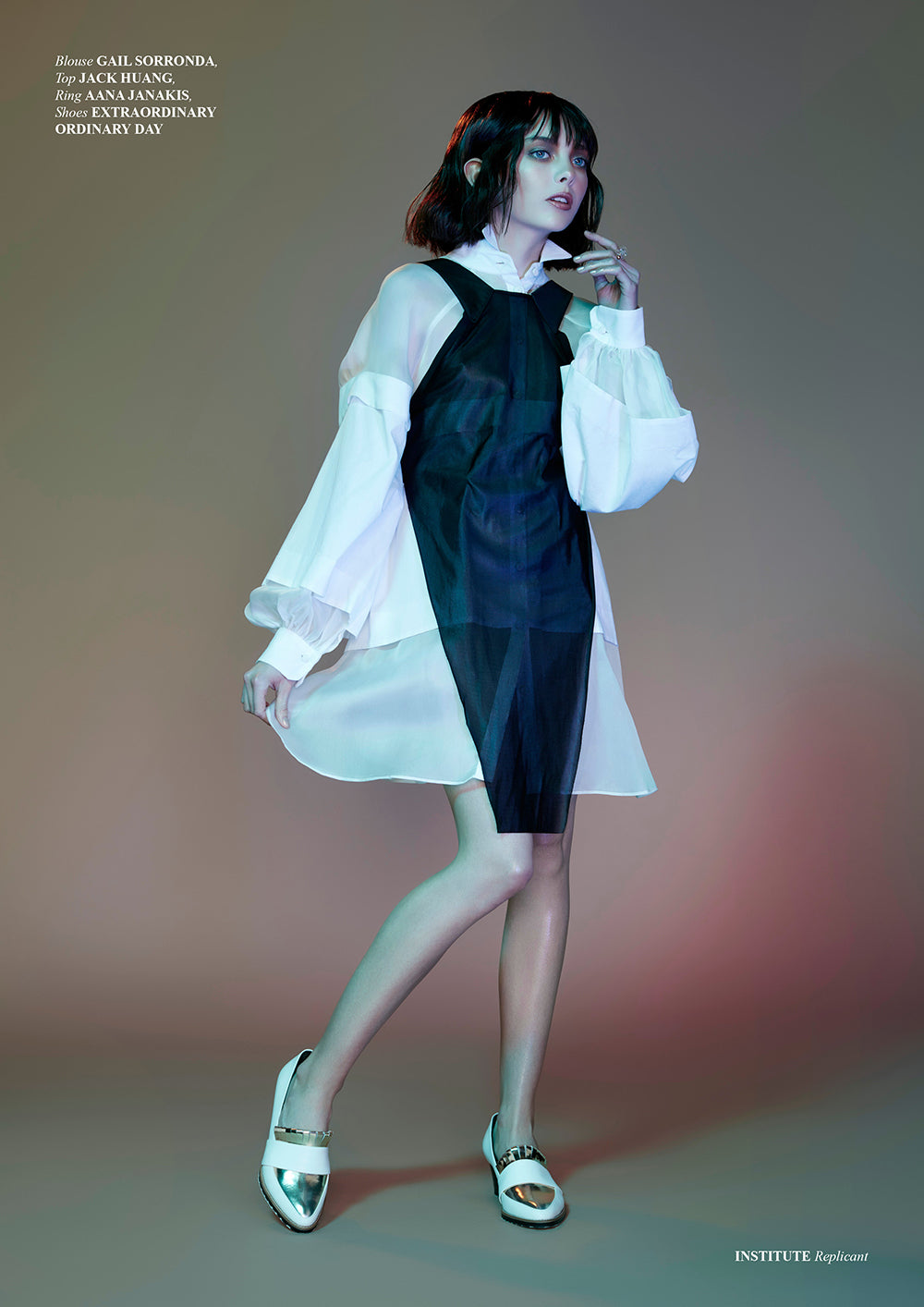 ASHLEY LIM Women's Designer Leather Shoes - White Babylon Pumps Featured on Institute Magazine