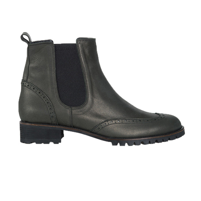 MOON BOOT Classic Chelsea Leather Boots - Platinum Black