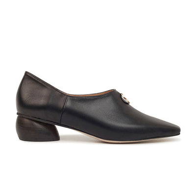 ASHLEY LIM designer shoes for women - Jacinda Black Leather Loafers 1