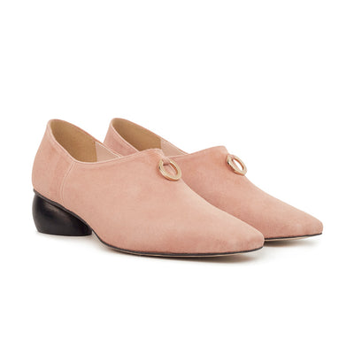 ASHLEY LIM designer shoes for women - Jacinda Blush Pink Suede Loafers 2