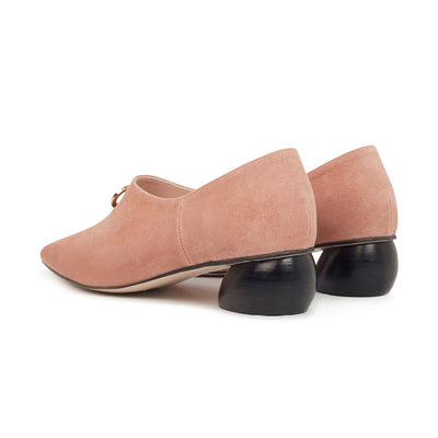 ASHLEY LIM designer shoes for women - Jacinda Blush Pink Suede Loafers 3
